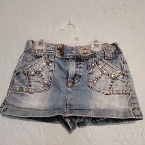 Xhilaration Jean Skirt w/ Attached Shorts